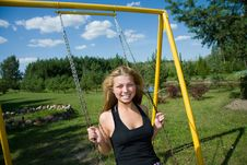 Free The Girl On A Seesaw Stock Photography - 6132312