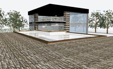 Free 3D Render Of Modern House Stock Image - 6132371
