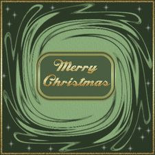 Free Merry Christmas Card Royalty Free Stock Image - 6132436