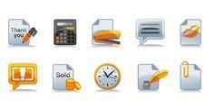 Free Cashdesk Icons Set Stock Photo - 6132450