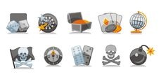 Free Gamble Icons Set Royalty Free Stock Image - 6132516