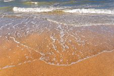 Free Flood Water On The Beach Royalty Free Stock Image - 6132736