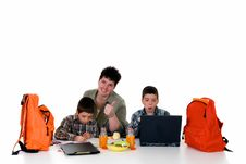 Free Boys Doing Homework Royalty Free Stock Photo - 6132745