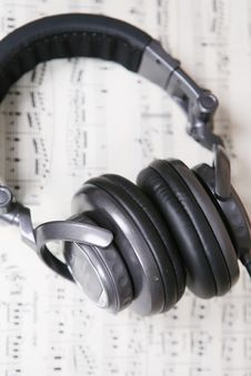 Free Score Sheet And Headphone Royalty Free Stock Photo - 6132975