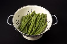 Free Green Beans In Colander Stock Photos - 6133143