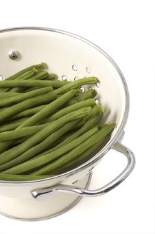 Free Green Beans In Colander Stock Image - 6133151