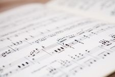 Free Music Score Royalty Free Stock Images - 6133359