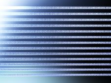 Binary Lines Royalty Free Stock Photo