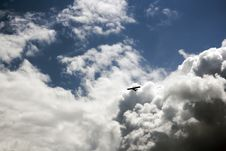Airplane In Sky Royalty Free Stock Photography