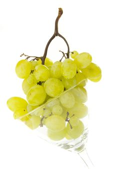 Grapes In Glass Stock Images