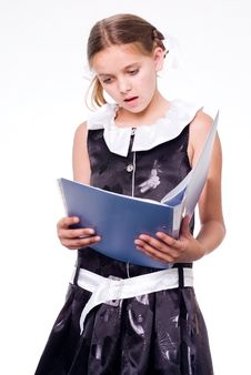Free Reading Schoolgirl Royalty Free Stock Photo - 6135825
