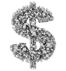 Free Dollar From Cubes Stock Photo - 6136670