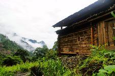 Cottage Of The Lisu Nationality Stock Image