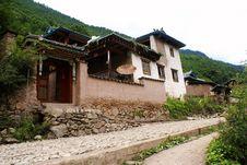Cottage Of The Naxi Nationality Stock Image