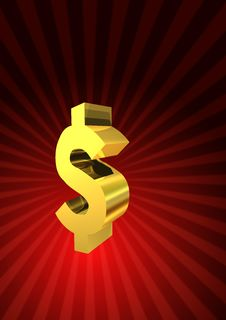 Golden Dollar Symbol Stock Images