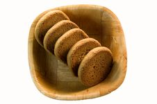 Free Five Biscuits On A Plate Royalty Free Stock Photos - 6137078