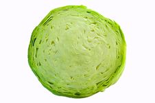 Free Cabbage Cut Isolated Over White Background Royalty Free Stock Image - 6137576