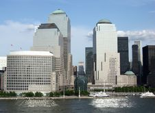 Manhattan Reflections Royalty Free Stock Images