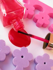 Spilled Nail Polish Royalty Free Stock Image
