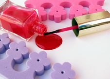 Spilled Nail Polish Royalty Free Stock Photos