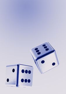 Free Falling Rolling Dices Royalty Free Stock Image - 6138846