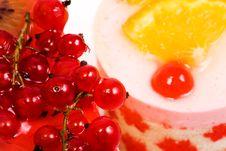 Currant, Cherry And Orange Stock Photos