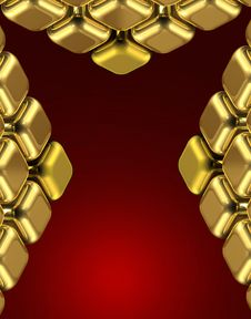 Free Golden X Cubes Royalty Free Stock Images - 6138949