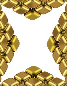 Free Golden X Cubes Stock Image - 6138951