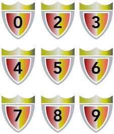 Free Crest With Numbers Royalty Free Stock Images - 6139649