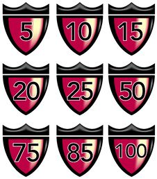 Free Crest With Numbers Stock Image - 6139651