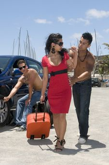 Free Man Changing A Wheel Of A Beautiful Woman Car Stock Images - 6139704