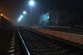 Free Railway Station At Night Royalty Free Stock Photo - 61394125