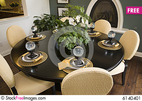 Dining Table With Modern Decor Free Stock Photos