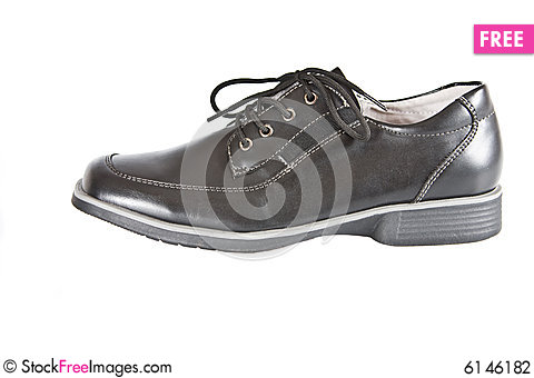 Free School Shoes For The Boy. We Prepare For School. Stock Photography - 6146182