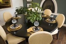 Dining Table With Modern Decor. Stock Image