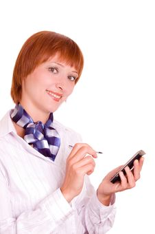 Free Girl With A Mobile Phone. Stock Photo - 6140530