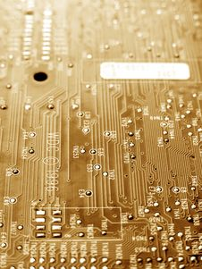 Free Electronic Circuit Board Stock Photography - 6140612