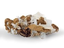 Free Crystals Of A Kaltsit And Quartz Royalty Free Stock Photos - 6140778