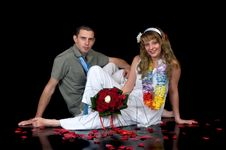 Young Happy Wedding Couple Stock Images