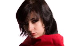 Free Young Female In Red Stock Image - 6141191