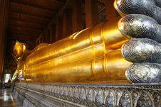 Free Recline Gold Buddha Stock Photos - 6141223