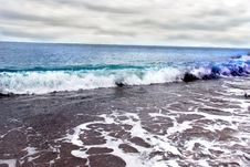 Free Sea Wave And Cloudy Sky Royalty Free Stock Photography - 6142107