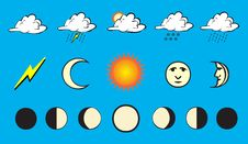 Free Weather Icons Royalty Free Stock Photo - 6143005