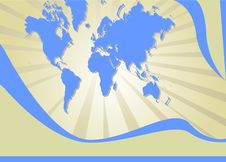 Free World Map Background Stock Images - 6143074