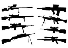 Free Weapon Silhouettes Royalty Free Stock Photography - 6143257