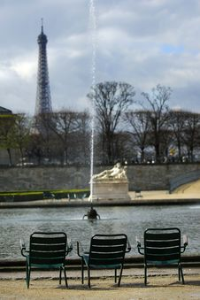 Tuileries Garden Royalty Free Stock Photo