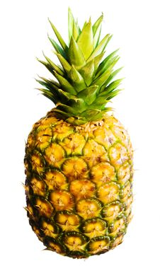 Free Pineapple On White Background Stock Photography - 6143912