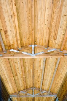 Free Beam Roof Of Wood Bridge Stock Photos - 6144023