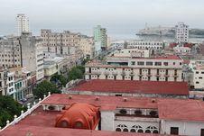 Prado And Lighthouse, Havana Stock Photo