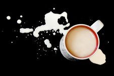 Free Tea And Milk Splatters Royalty Free Stock Photos - 6144158